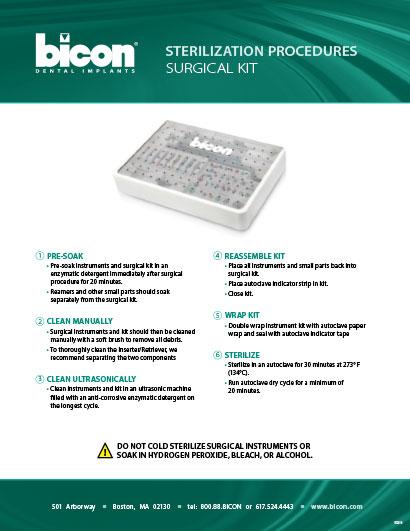 Bicon Surgical Kit Sterilization