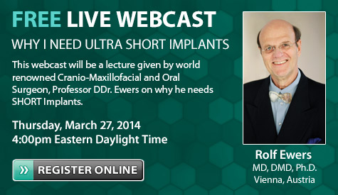 Bicon Webcast with Rolf Ewers, MD DMD PhD - Vienna, Austria